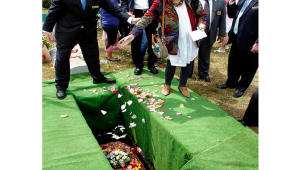Girl laid to rest 145 years after first burial