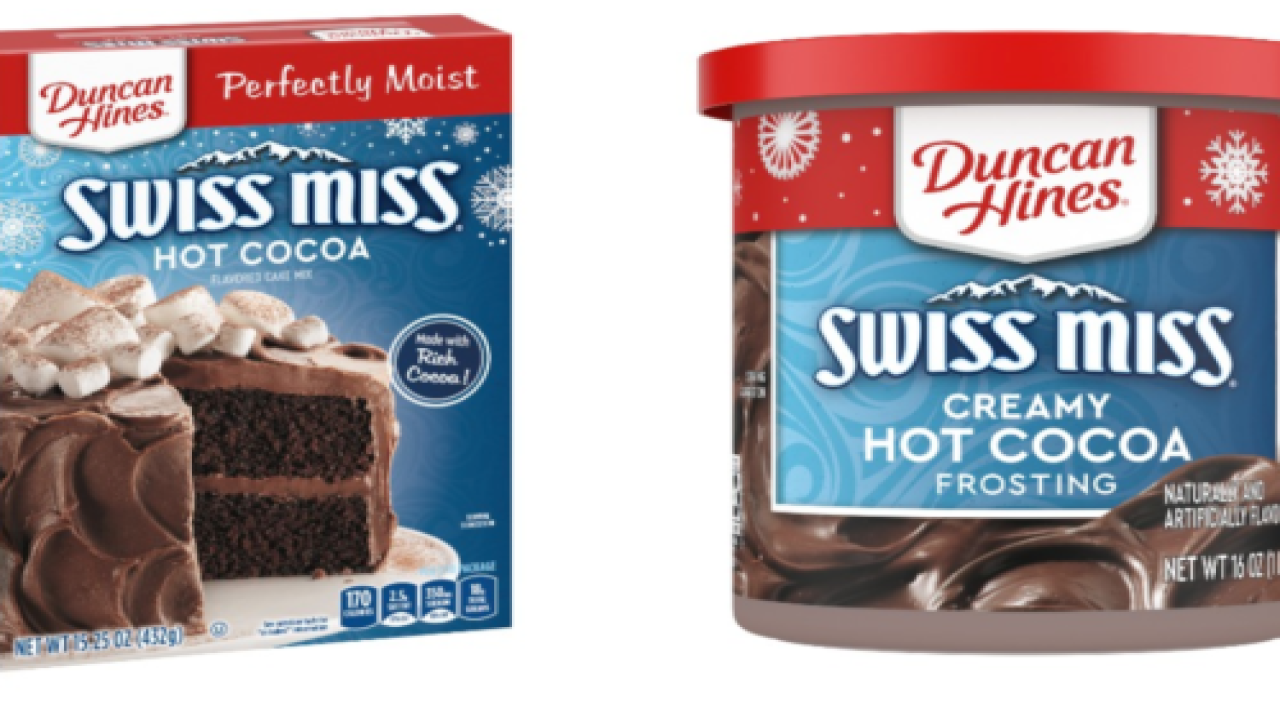 Swiss Miss And Duncan Hines Debut Hot Cocoa Cake Mix And Frosting