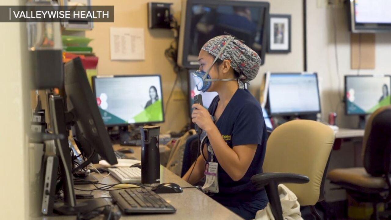 Valleywise Health nurse covid