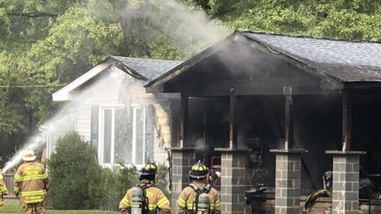 Fire significantly damages James City County home