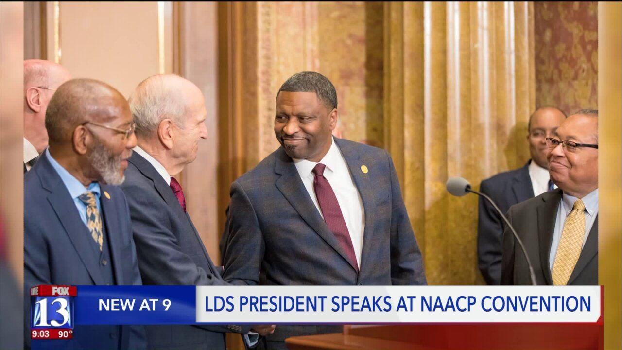 Latter-day Saint church president calls for love, recognizes SLC Rev. Davis' example at NAACPconvention
