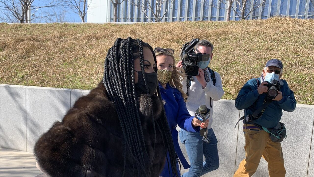 Jen Shah outside federal courthouse in SLC