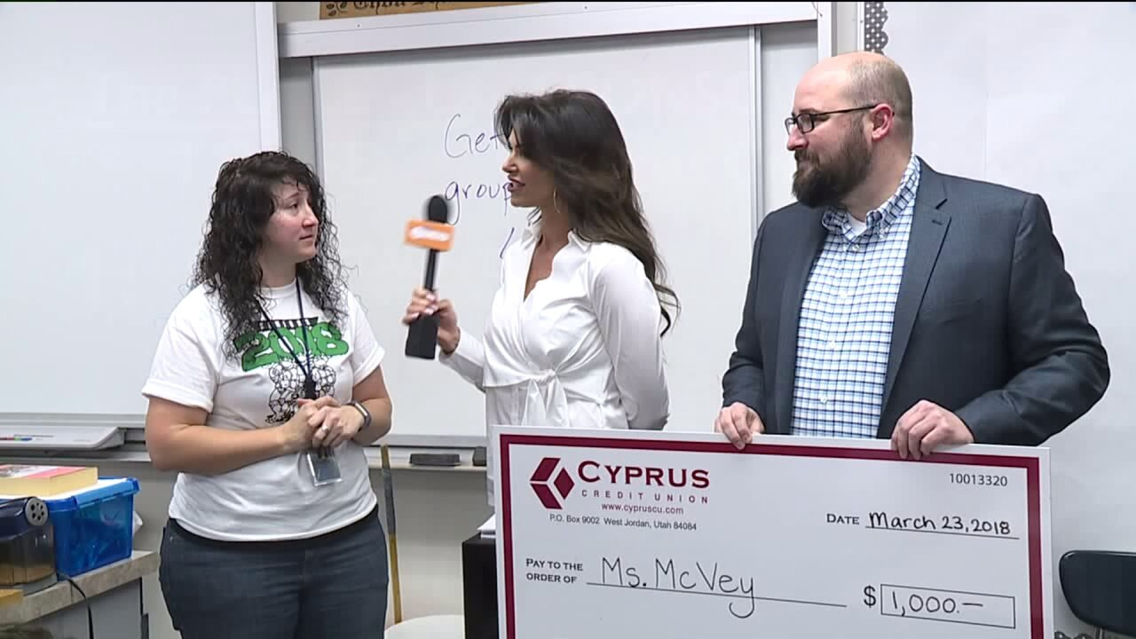 Cyprus Credit Union Teacher of the Month: Ms. McVey at Hunter High School