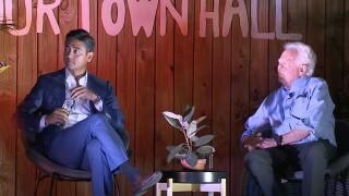 Aftab Pureval and David Mann town hall mayor election