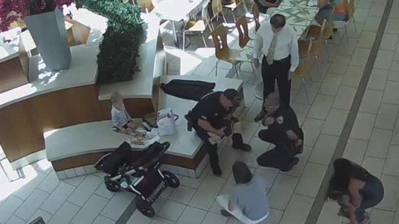 Florida police officers save choking baby