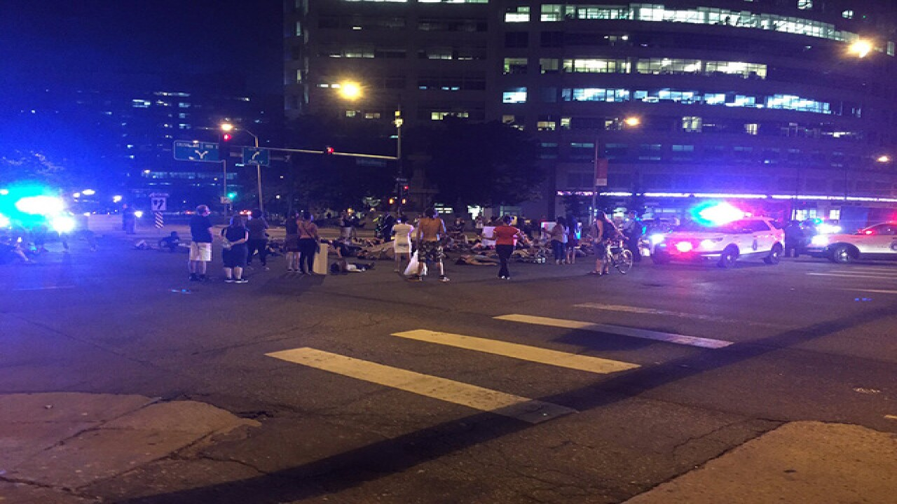 Police protests peaceful in downtown Denver