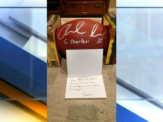 Man returns Andrew Luck's wallet, gets signed football in return