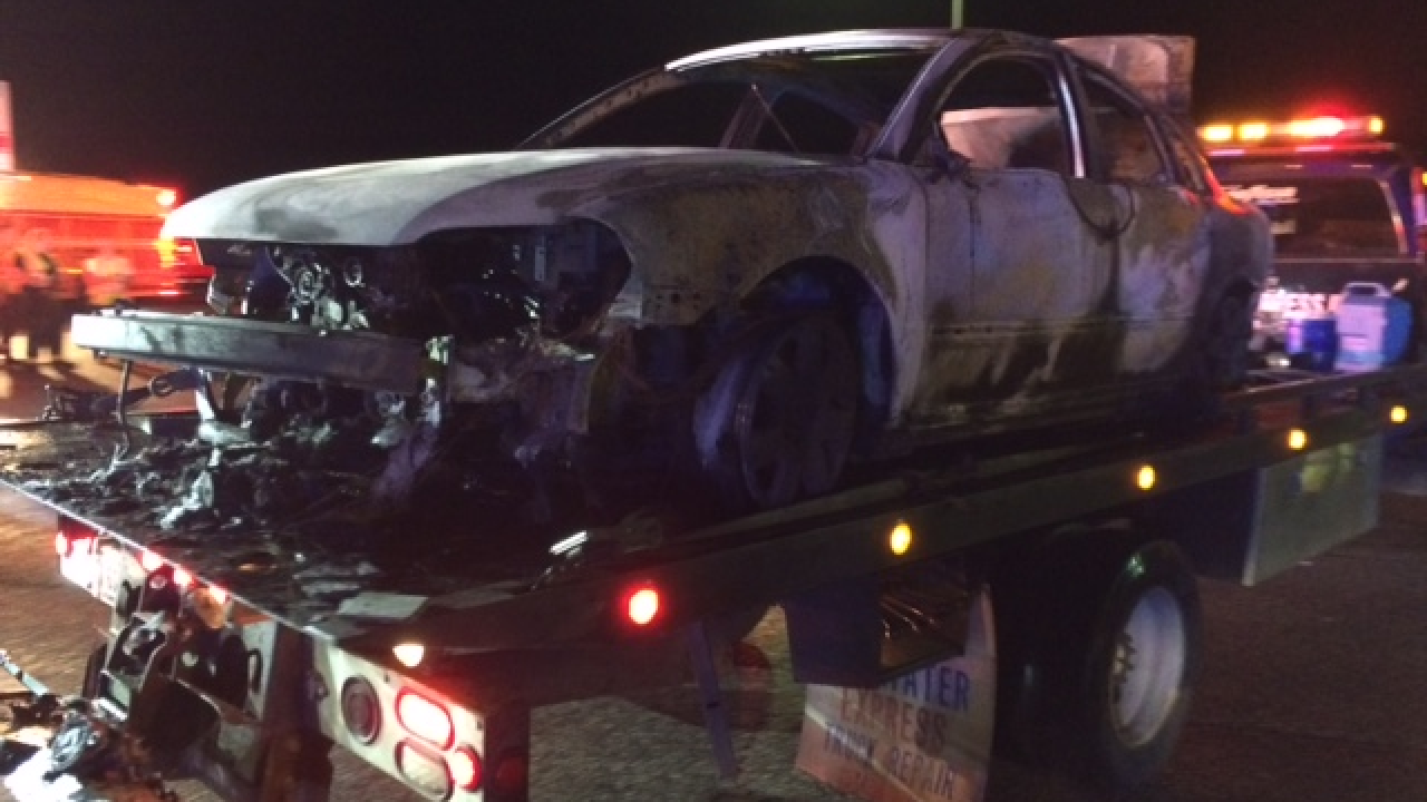Driver charged after car crash causes fire atHRBT