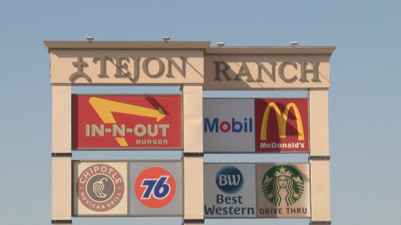 Tejon Ranch Commerce Center sign