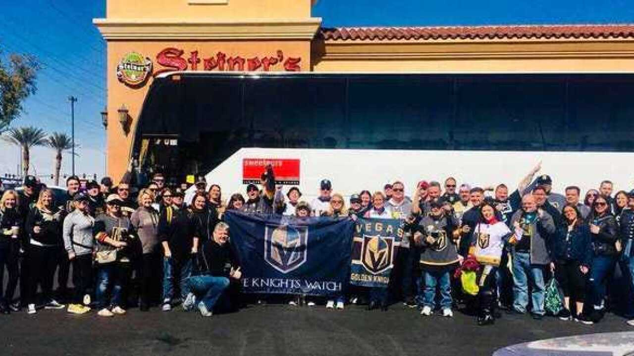 Vegas Golden Knights fans take charter bus to game in Los Angeles
