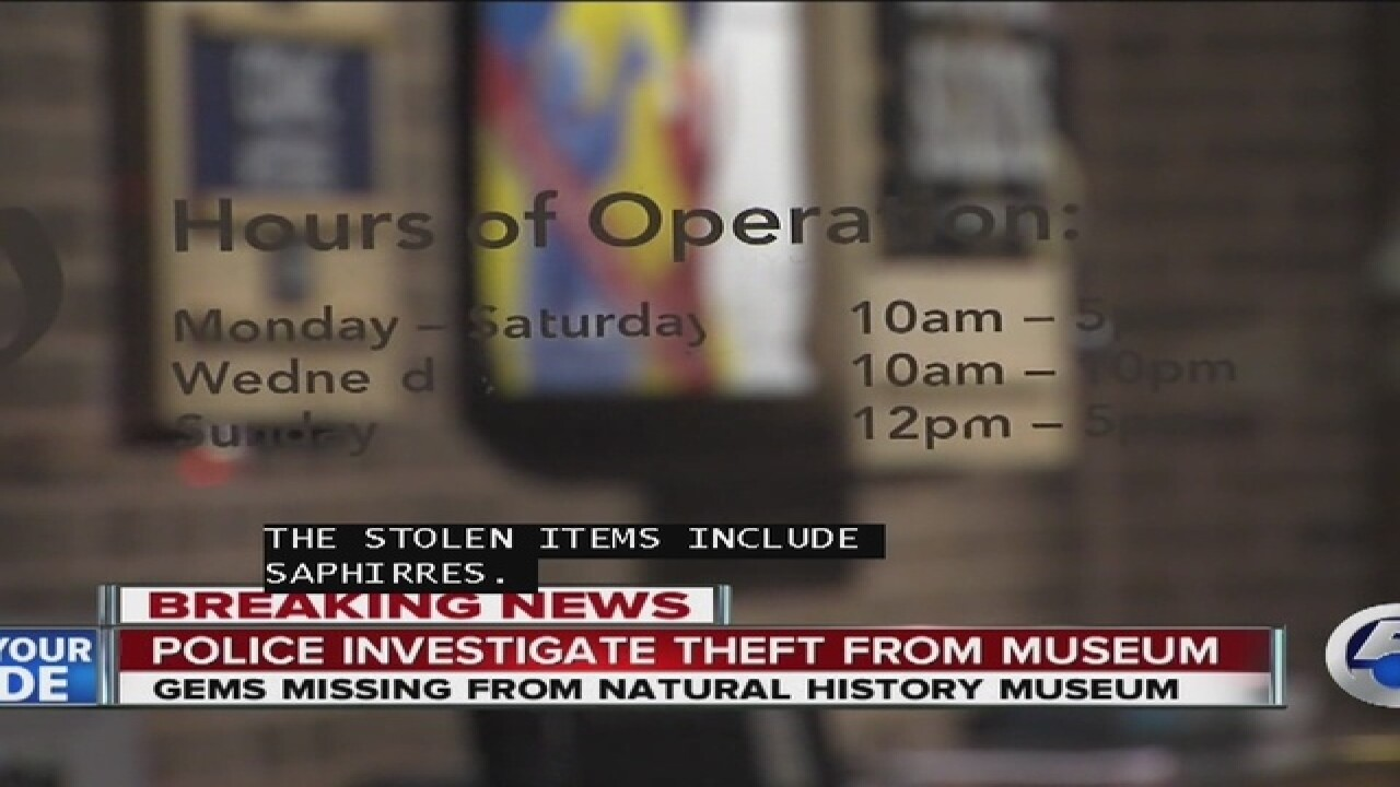 Police investigating major theft at CLE museum
