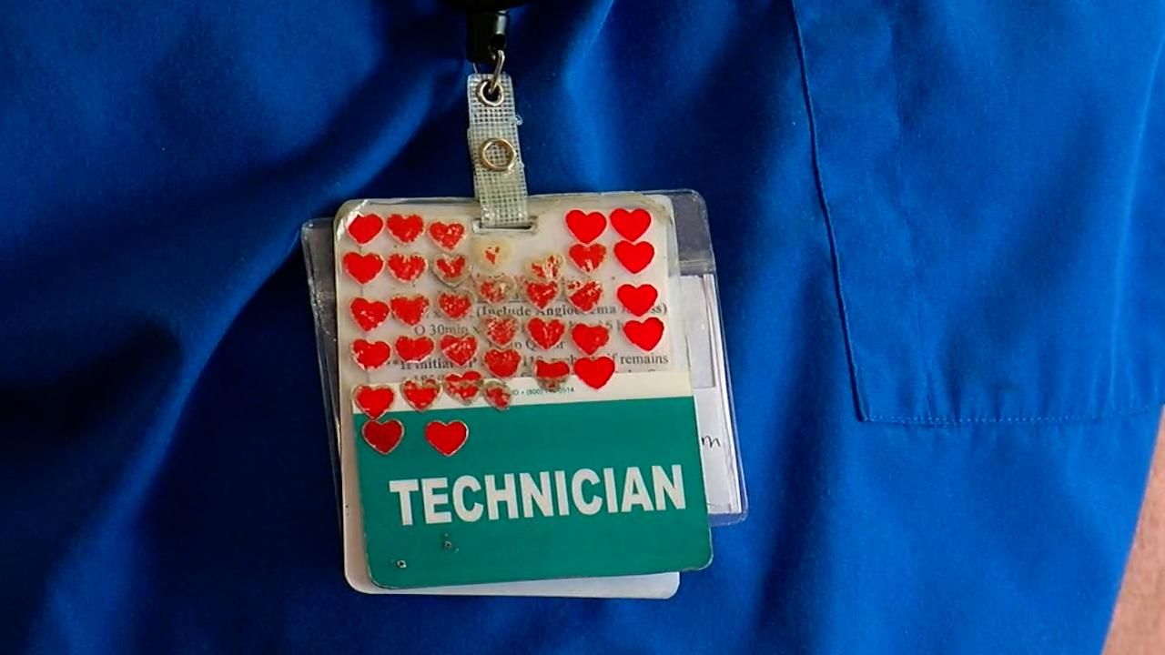 Blake Webb Heart badge