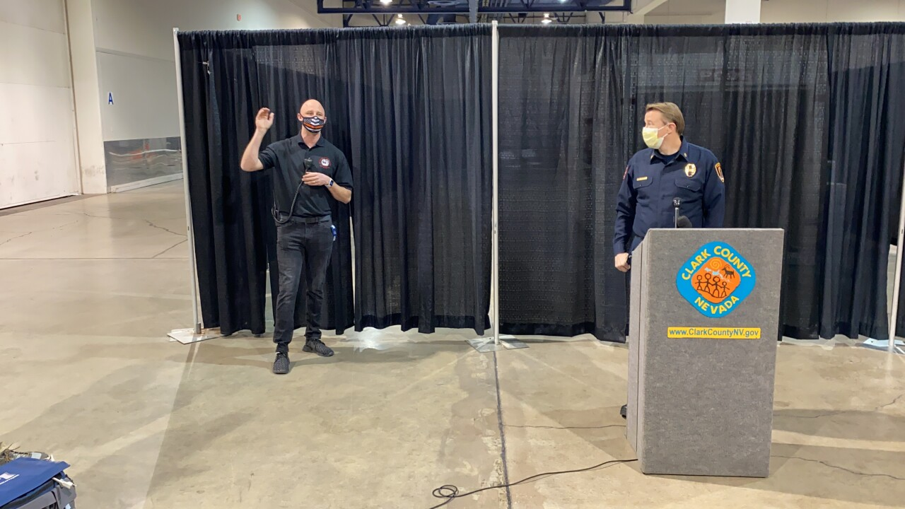 The Clark County Fire Department provided an update regarding the vaccination effort at Cashman Center in downtown Las Vegas