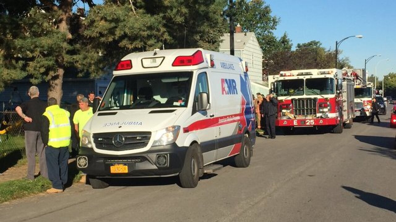 Child pulled to safety after falling in sewer