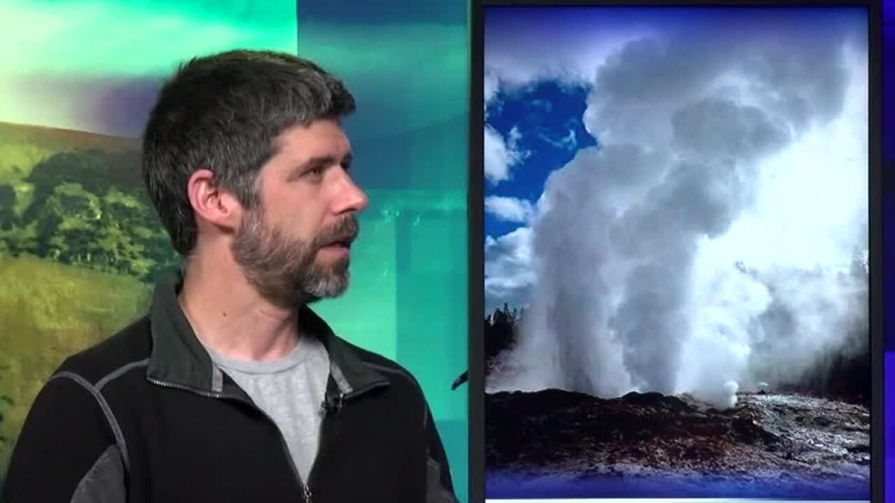 Yellowstone's Steamboat Geyser continues to erupt
