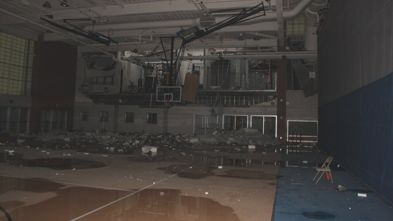 Carmel High School Explosion Damage - Gym