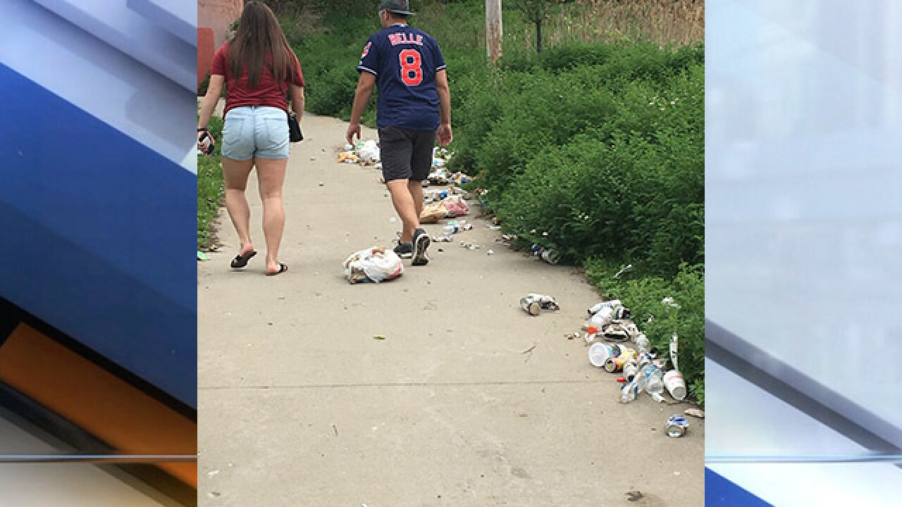 Fans slam city for trash near stadiums