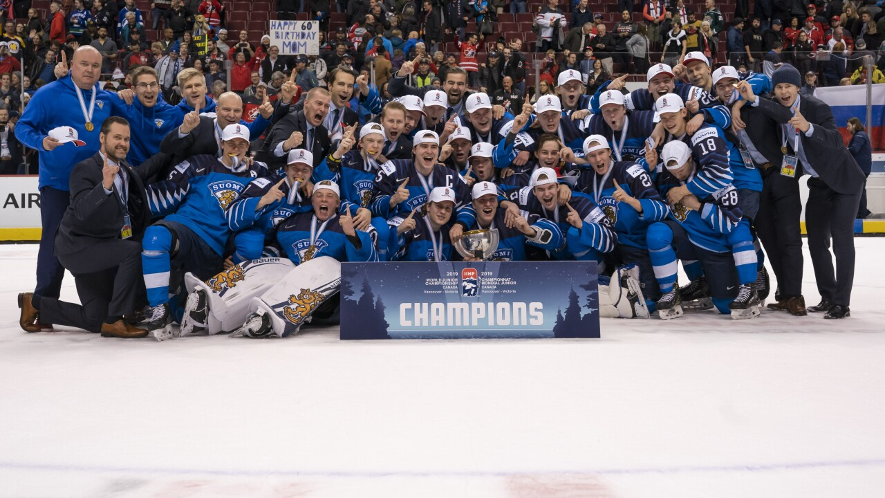 Finland Wins World Junior Hockey Title Beating United States