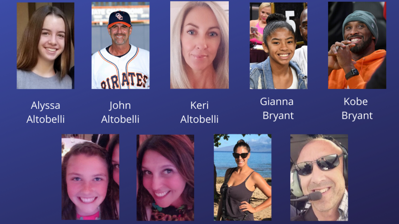 Image result for all those who died in the crash with kobe bryant