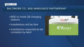 BGE to install electric vehicle charging stations in Baltimore County