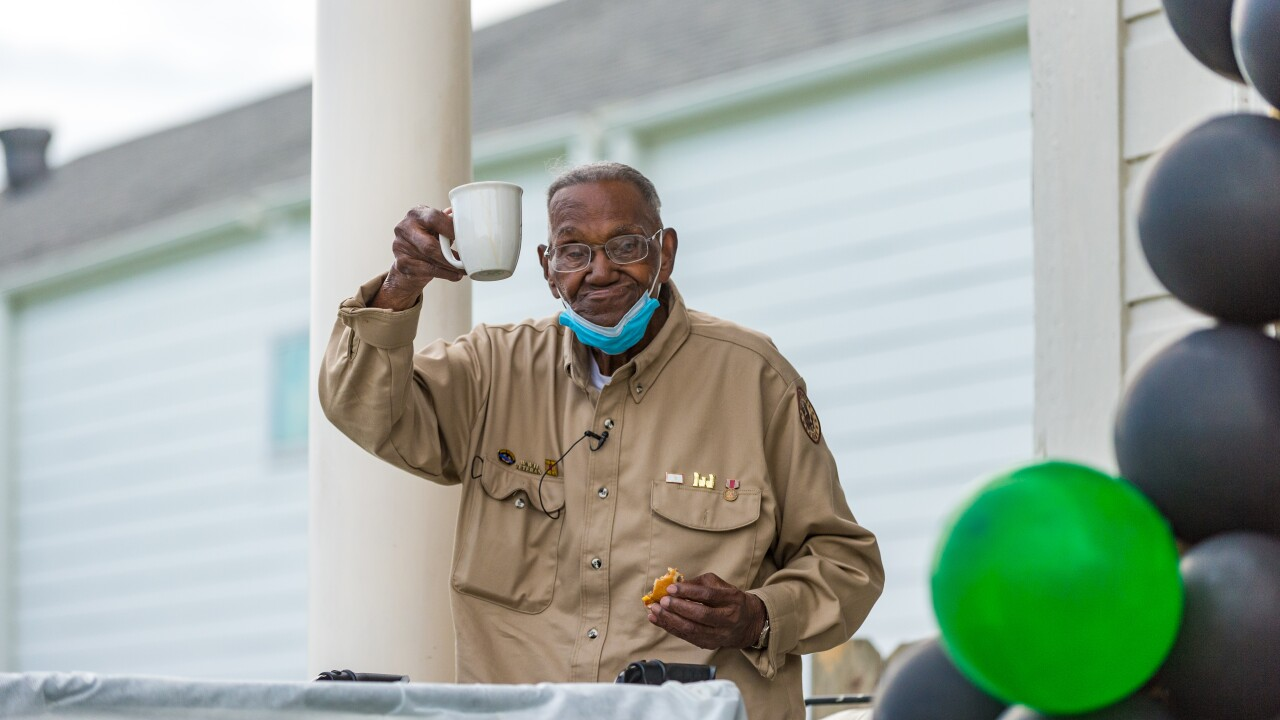 Oldest known WWII veteran celebrates 111th birthday with military plane flyover