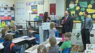 Heck-Quaw Elementary School awarded One Class At A Time check