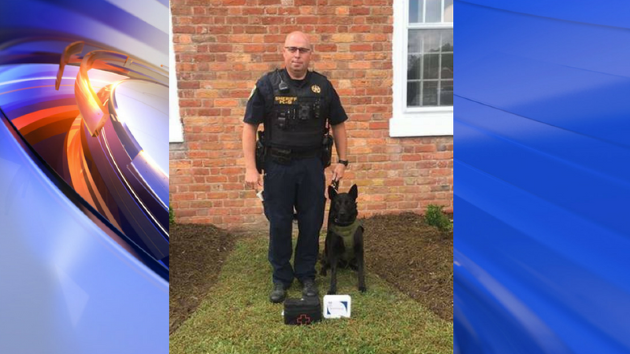 Nonprofit donates trauma, Narcan kits for Isle of Wight K9 handlers