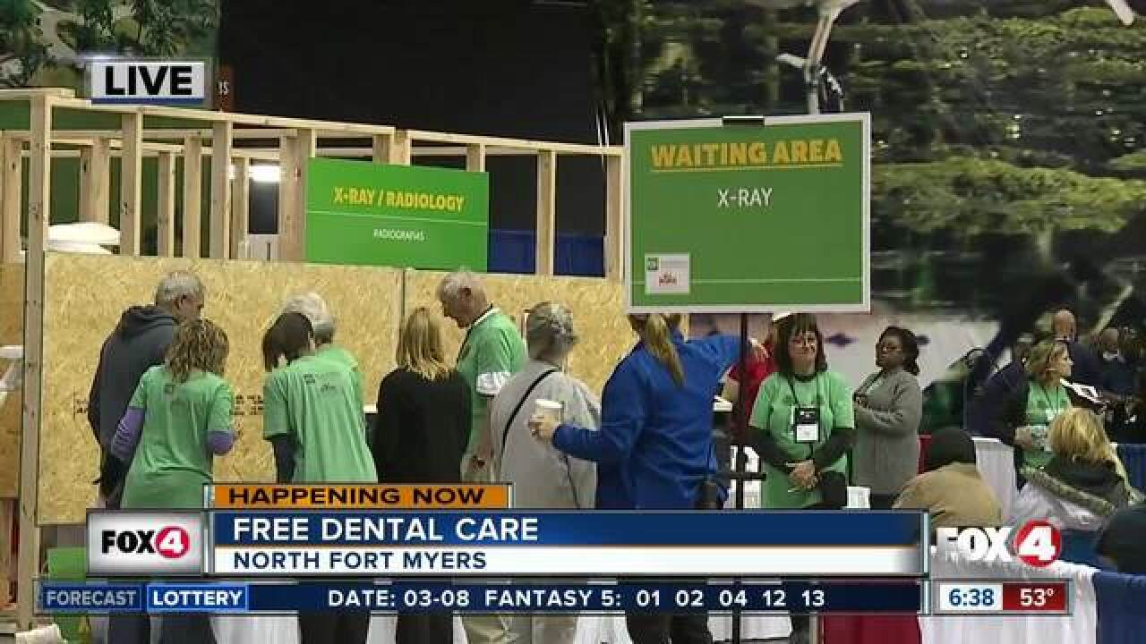 Free dental care offered at Fort Myers event