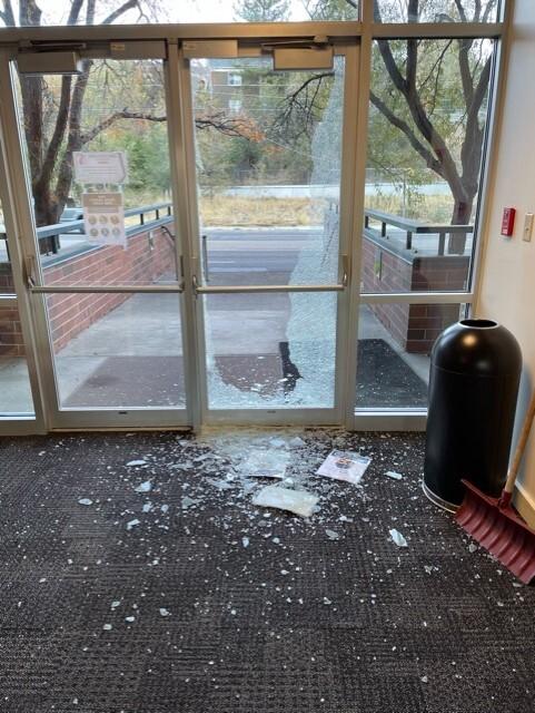 Vandalism at UDOH building