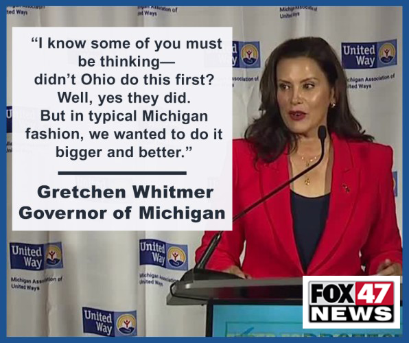 Governor Gretchen Whitmer Comments on MI Shot to Win Sweepstakes