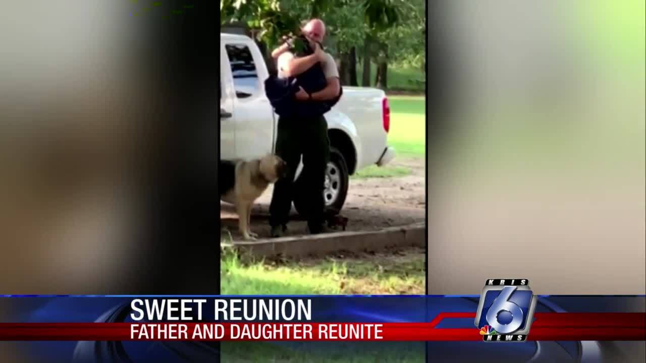Reunion between Texas girl and her father