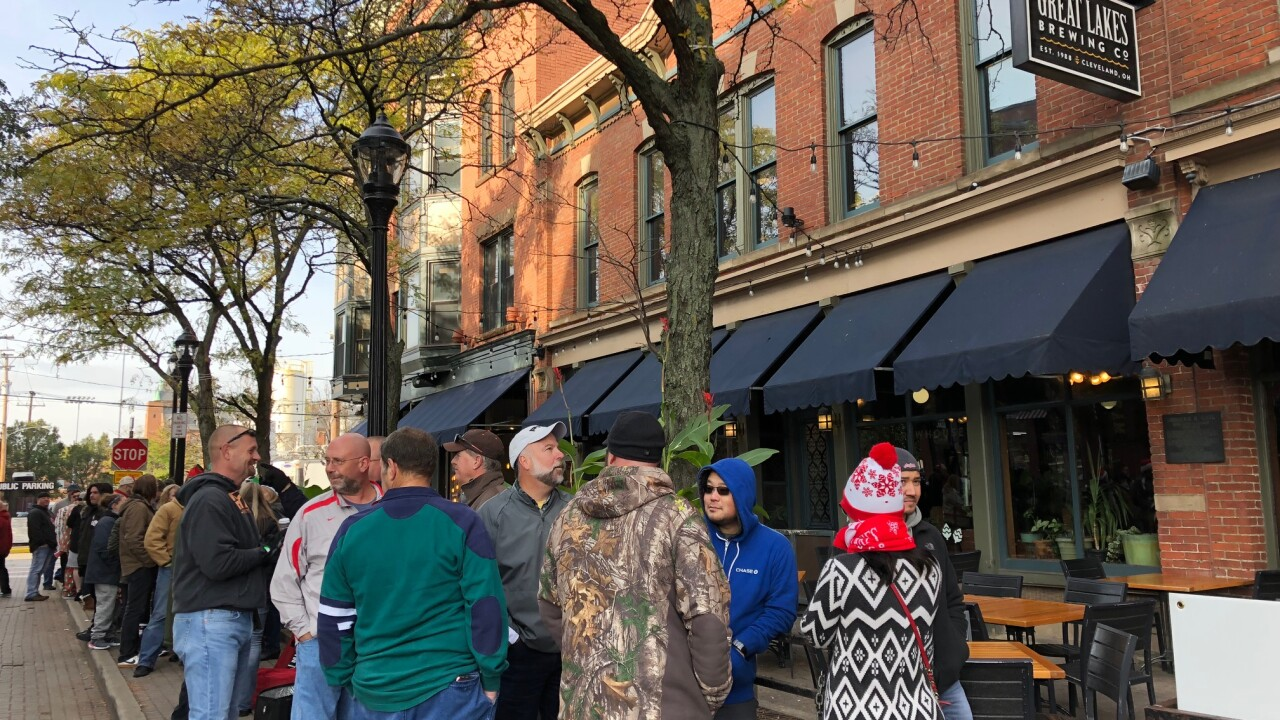 Christmas Ale tapping