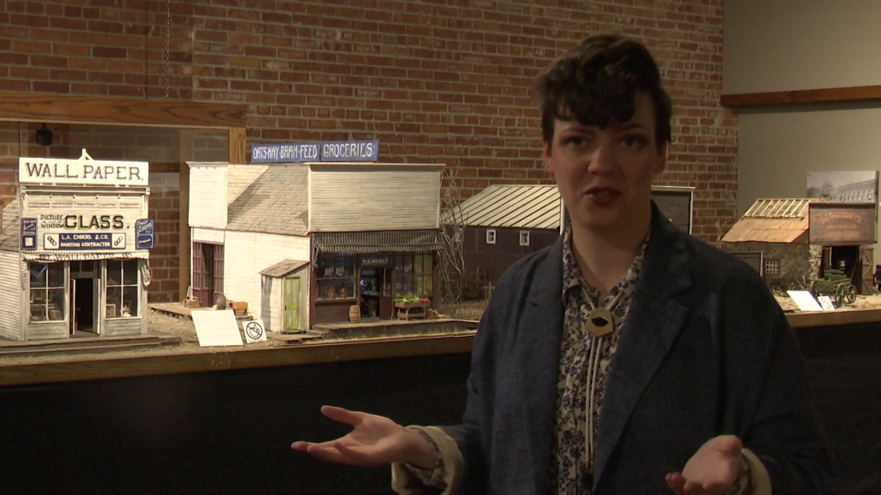 Ashleigh McCann, collections curator at the History Museum