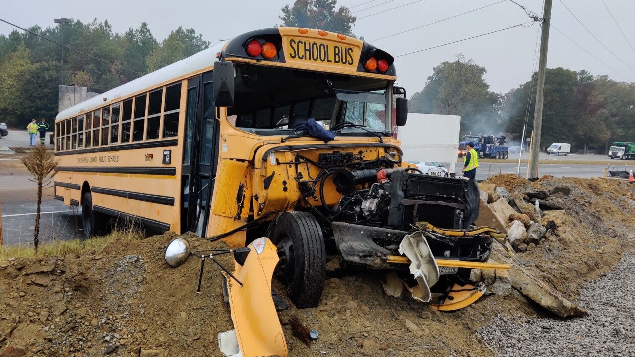 School bus driver and her kids hurt in Chesterfield crash
