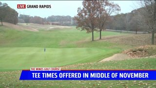 Grand Rapids golf course offering tee times in November