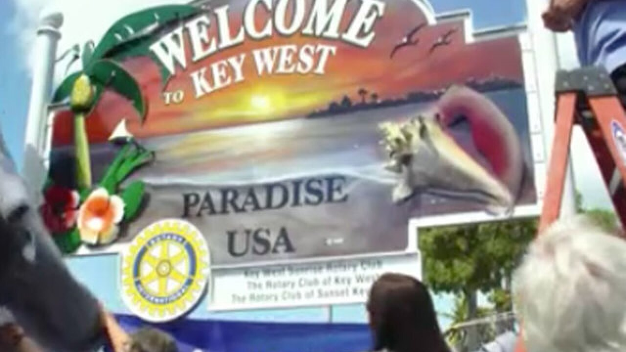 Welcome sign returned to Key West, stolen after Hurricane Irma