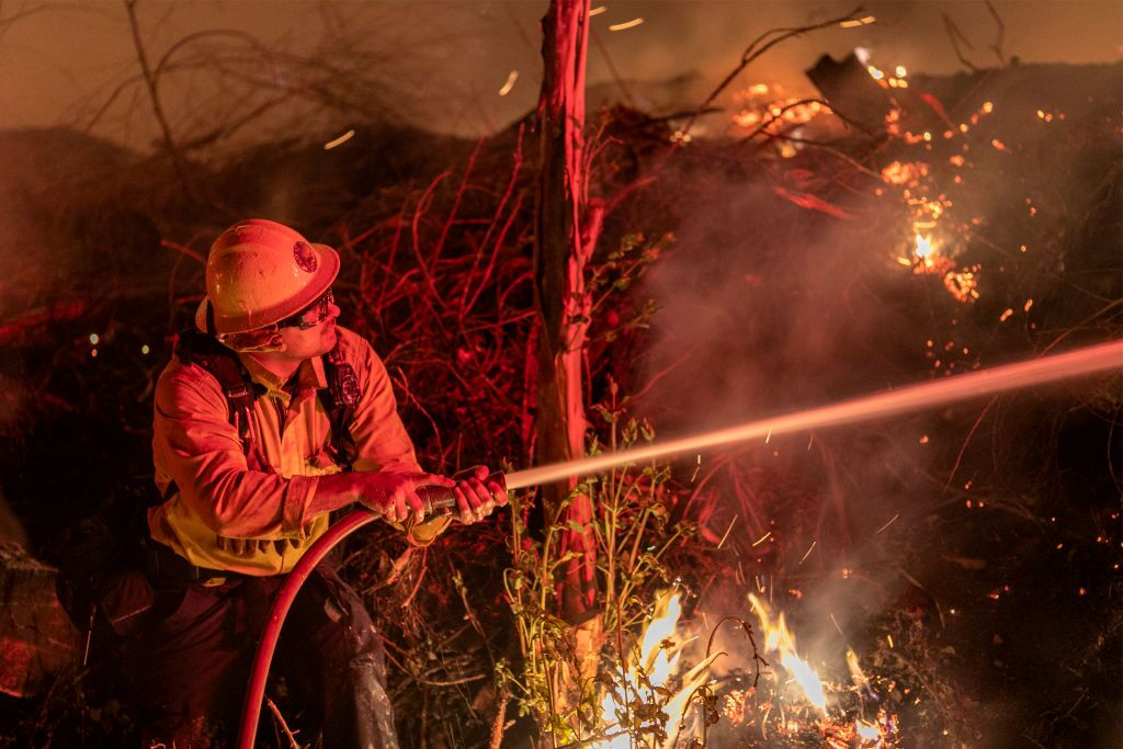 """Extreme"" Santa Ana Winds Spark New Wildfires In Southern California"