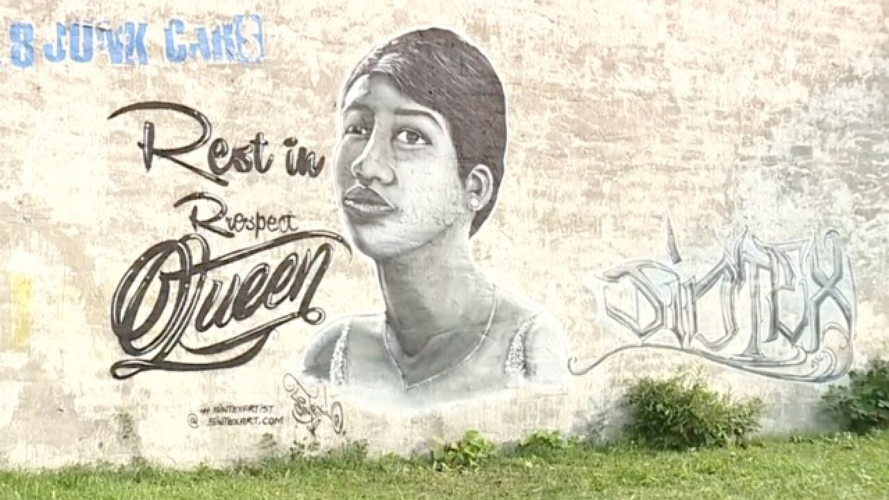 Mural tribute to Queen of Soul pops up on Detroit's west side