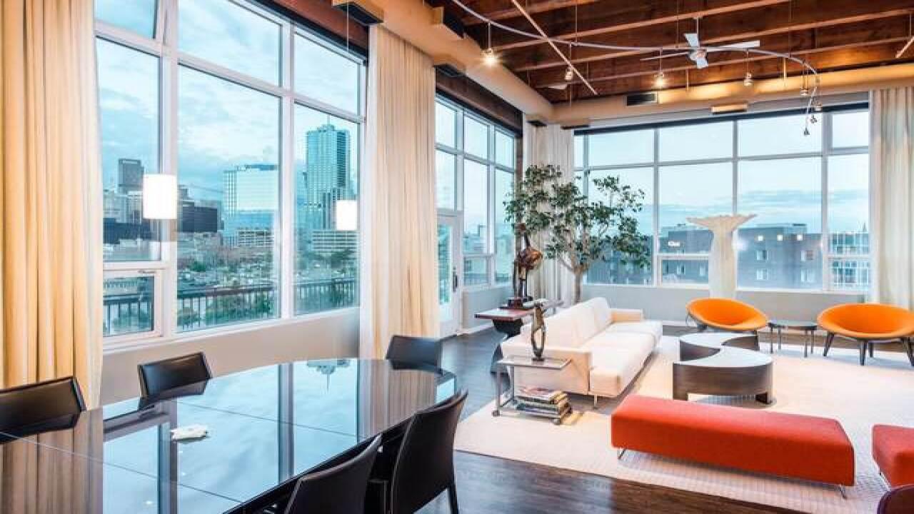 Auraria Parkway loft features walls of windows