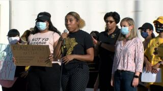 Chief Jeri Williams, Mayor Kate Gallego join Phoenix protest Saturday, June 6