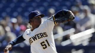 Mariners Brewers Spring Baseball