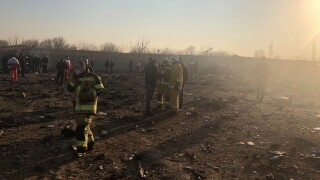 Plane carrying 180 passengers leaving Iranian airport crashes