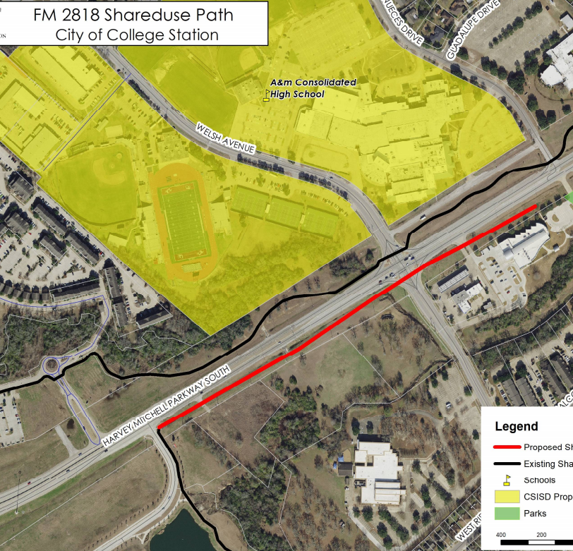 FM 2818 Shared-use Path (City of College Station)