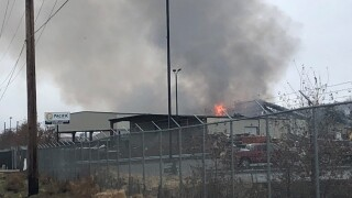 Firefighters battle blaze at Lockwood Pacific Recycling