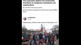 Facebook ban irks Capitol protester, former mayoral candidate