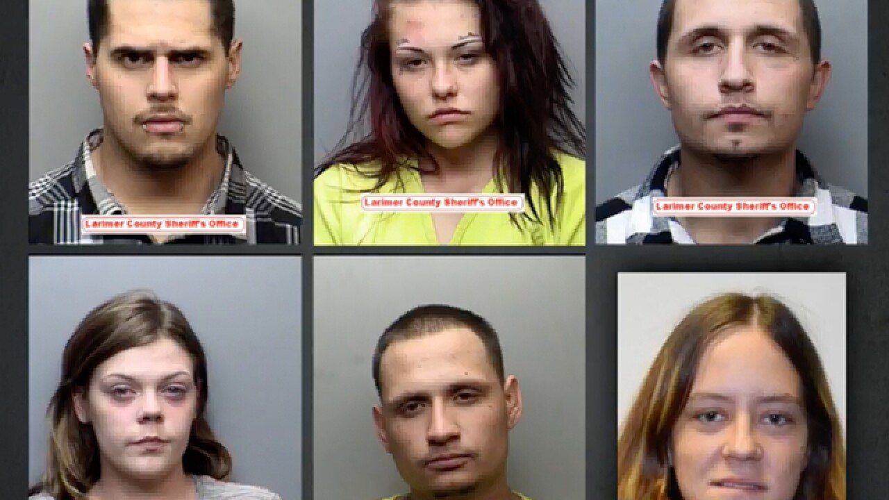 6 people face 100+ charges in months-long Larimer Co. crime spree