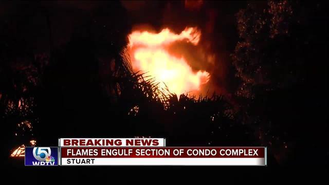 Large fire destroys 10 units at Stuart condo