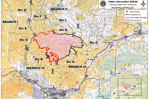 Pine Gulch Fire map_Aug 26