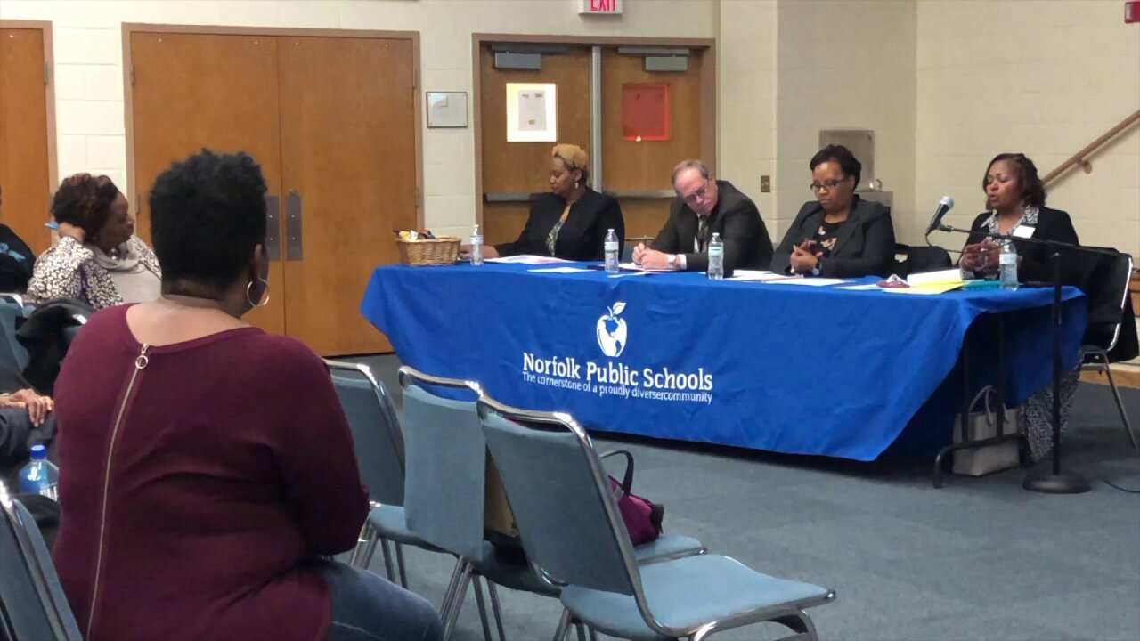 Community voices concerns on planned elementary-to-middle feeder changes to Norfolkschools