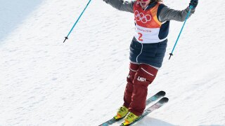 USA skier David Wise gives it all, and comes out with another Olympic gold in men's ski halfpipe